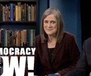 Amy Goodman & Juan Gonzalez on TV set