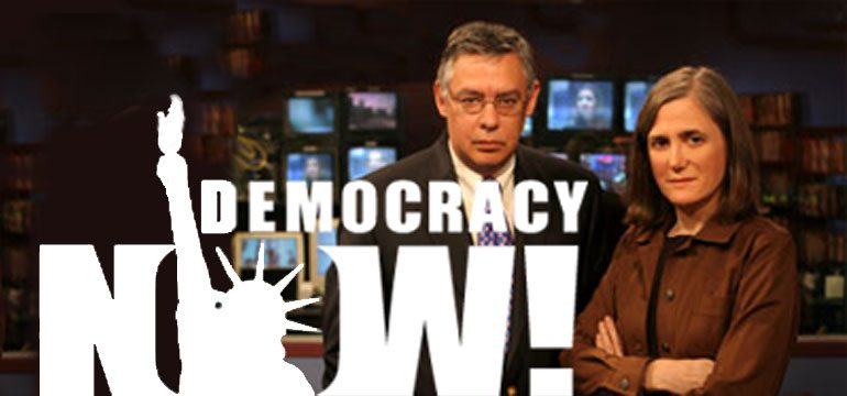 Democracy Now Logo, Juan and Amy