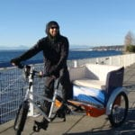 Man driving a pedicab