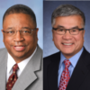 Councilmember Larry Gossett and Governor Gary Locke