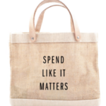 spend like it matters shopping tote